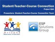 Student-Teacher-Course Connection - Arizona Department of ...