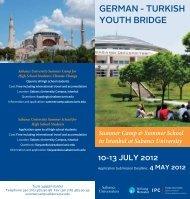 Summer Camp for High School Students - Sabanci University