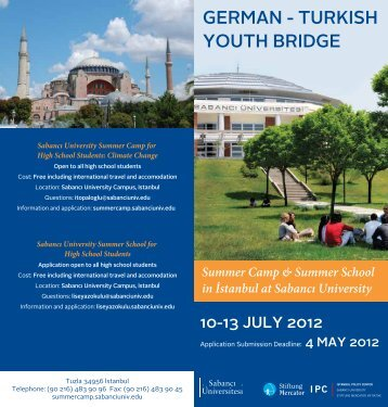 Summer Camp for High School Students - Sabanci University