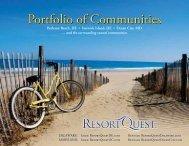 Portfolio of Communities - ResortQuest Real Estate