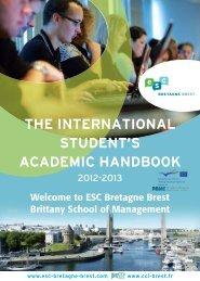 ESC Bretagne Brest - International Relations