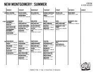 NEW MONTGOMERY : SUMMER - Crunch