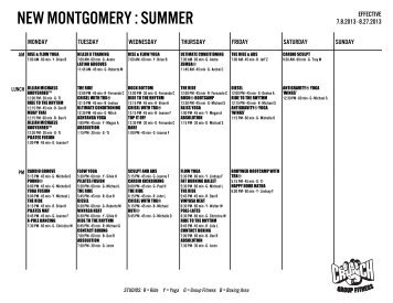 NEW MONTGOMERY : SUMMER - Crunch