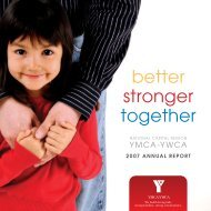 better stronger together - YMCA-YWCA