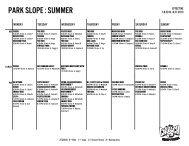 PARK SLOPE : SUMMER - Crunch