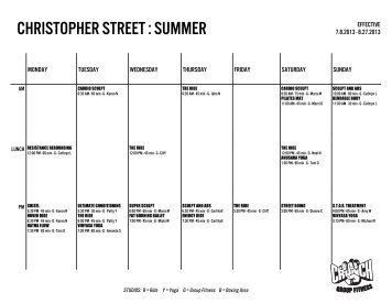CHRISTOPHER STREET : SUMMER - Crunch