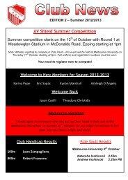 Club News - Edition 2 Summer 2012-2013 - Preston Athletic Club Inc