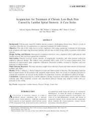Acupuncture for Treatment of Chronic Low-Back Pain Caused by ...