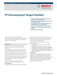 FP Konvansiyonel Yangın Panelleri - Bosch Security Systems