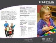 Children's Policies - Genesys Athletic Club