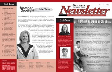 newsletter May 2005 v5 - Genesys Athletic Club