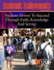 Students Driven To Succeed Through Faith, Knowledge And Service