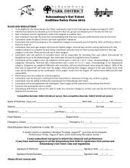 Schaumburg's Got Talent Audition Entry Form 2013