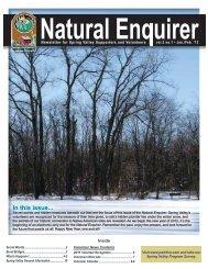 Natural Enquirer January/February 2012 - Schaumburg Park District