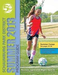 Schaumburg Park District Summer 2013 Program Guide