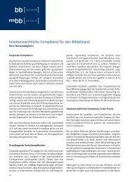 Insolvenzrechtliche Compliance für den Mittelstand