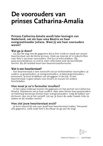 Amalia - Centraal Bureau voor Genealogie
