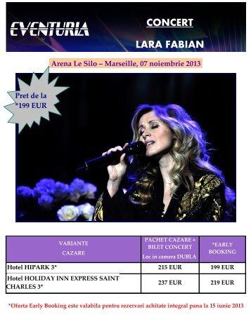 CONCERT LARA FABIAN LA MARSEILLE 07 ... - Activ Tours ERP