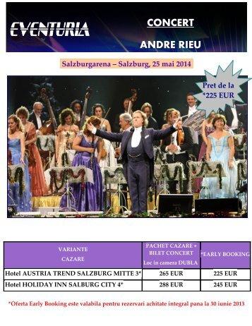 CONCERT ANDRE RIEU LA SALZBURG 25 MAI ... - Activ Tours ERP