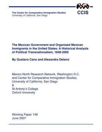Working Paper 148 - Red Internacional de Migración y Desarrollo