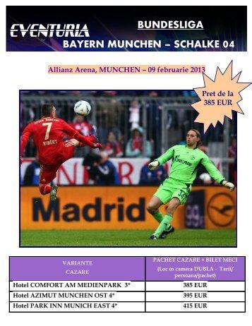 SCHALKE 04 Allianz Arena, MUNCHEN – 09 ... - Activ Tours ERP