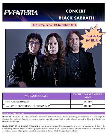 CONCERT BLACK SABBATH POP Bercy, Paris ... - Activ Tours ERP