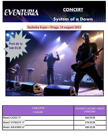 CONCERT System of a Down Incheba Expo ... - Activ Tours ERP