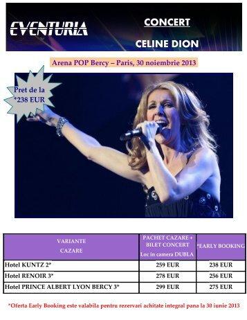 CONCERT CELINE DION Arena POP Bercy ... - Activ Tours ERP