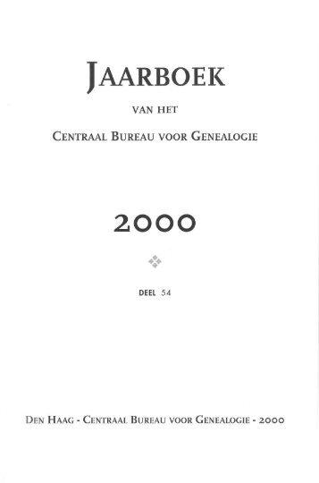 De Stamboom In De Klas Centraal Bureau Voor Genealogie