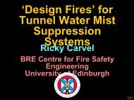 'Design Fires' for Tunnel Water Mist Suppression Systems - istss
