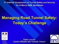 Managing road tunnels safety: today's challenge - istss