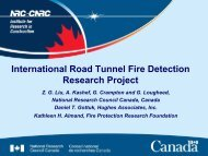 International Road Tunnel Fire Detection Research Project - istss