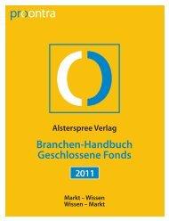 Branchen-Handbuch Geschlossene Fonds - Procontra