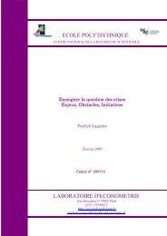 Enjeux, Obstacles, Initiatives, Cahiers du ... - Patrick Lagadec