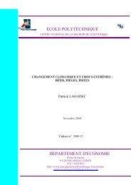 Changement climatique et chocs extrêmes – Défis ... - Patrick Lagadec