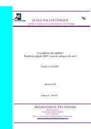 ecole polytechnique departement d'economie - Patrick Lagadec