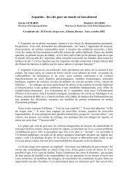 Argentine: des clés pour un monde en basculement - Patrick Lagadec