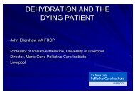 Prof. Dr. John Ellershaw - Dehydration and the dying Patient