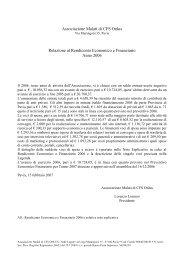 Rendiconto economico-finanziario del 2006 - associazionecfs.it