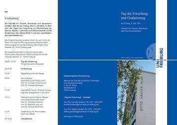 Tag der Forschung 2011 Faltblatt - Fakultät für Chemie und Pharmazie