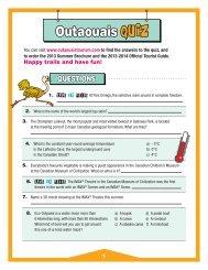 Outaouais QUiZ - Tourisme Outaouais