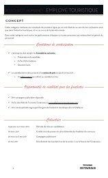 Conditions de participation Opportunités de visibilité pour les ...