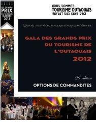 Partenaire - Gala des Grands Prix du tourisme de l'Outaouais