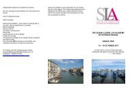 Venice, October 2011 - The Susan Llewellyn Academy of Interior ...