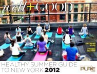 healthy summer guide to new york 2012 - Well+Good NYC