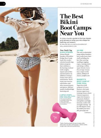 Best Bikini Boot Camps around the country - Well+Good NYC