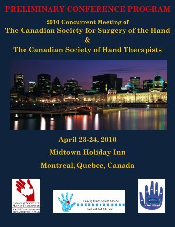 preliminary conference program - Canadian Society of Hand ...