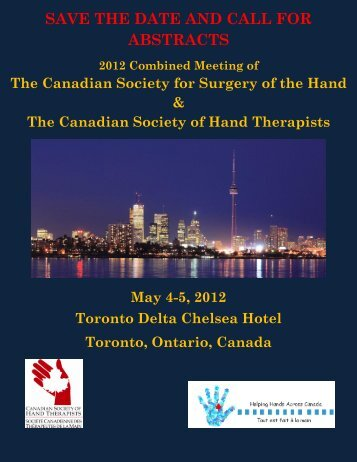 Submitting an abstract - Canadian Society of Hand Therapists