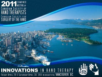 president's message - Canadian Society of Hand Therapists