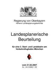 Landesplanerische Beurteilung für eine 3. Start- und Landebahn